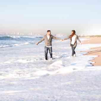 Kevin & Karstin's fun beach shoot